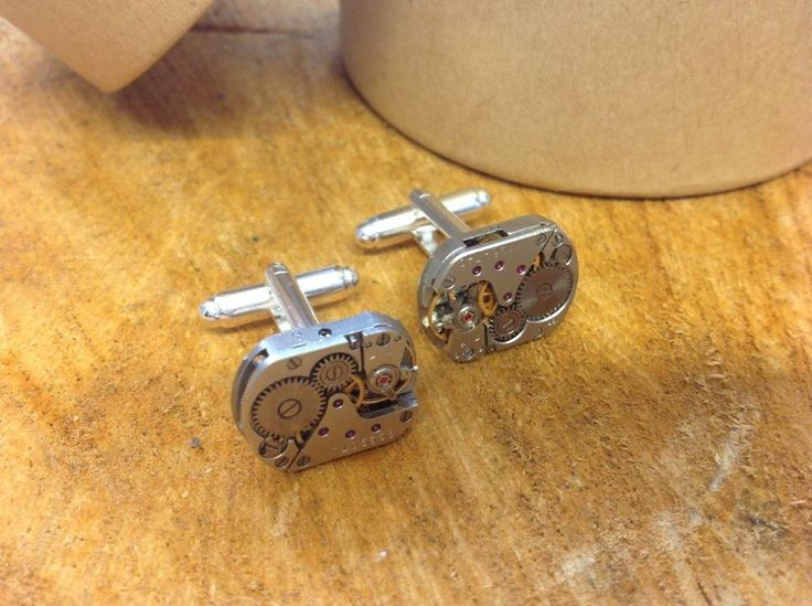 Watch Part Cuff Links - Steam Punk by LillyDillys on Etsy