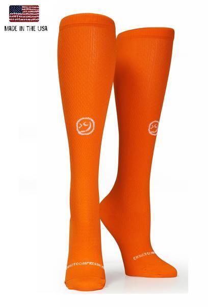 366f795e15 Racer Orange OTC Solid | Crazy Compression SOCKS Website: Crazy Out the  Door | Socks, Compression sleeves, Cool socks