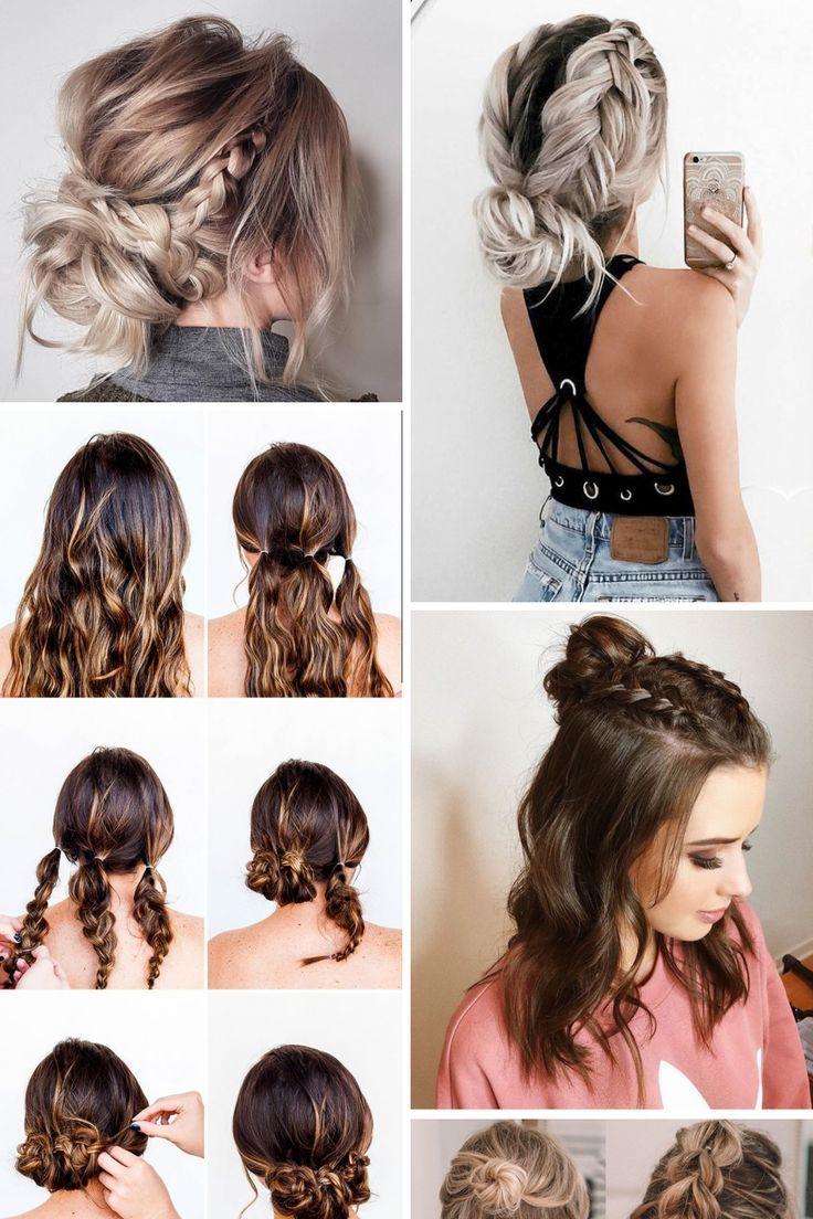 15 Creative Easy Hairstyles For Medium Hair Ideas You Will Fall In Love Creative Easy Fa Medium Hair Styles Hair Styles Short Hair Styles Easy