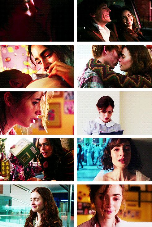 Lily Collins in Love, Rosie. She looks so cute as a mother, not that she doesn't any other way but...