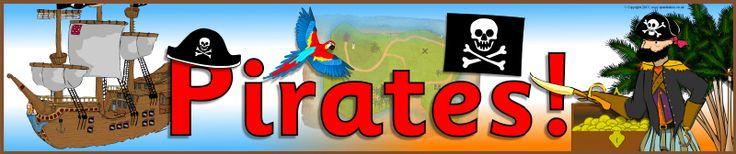 Ned. versie!!! Pirates! display banner (SB2178) - SparkleBox