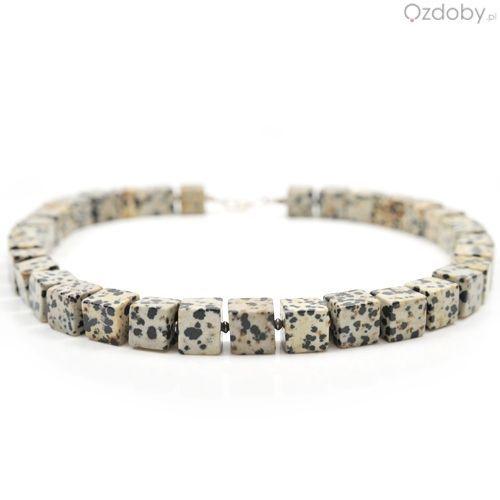 Przepiękny naszyjnik wykonany z naturalnego kamienia i zapięciem najwyższej jakości srebra.