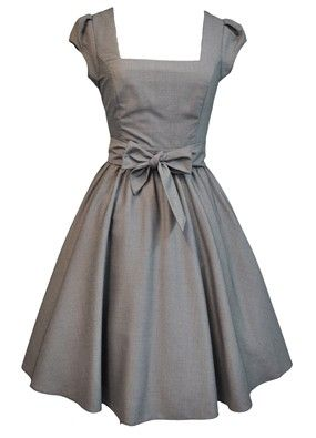 pretty grey dress!