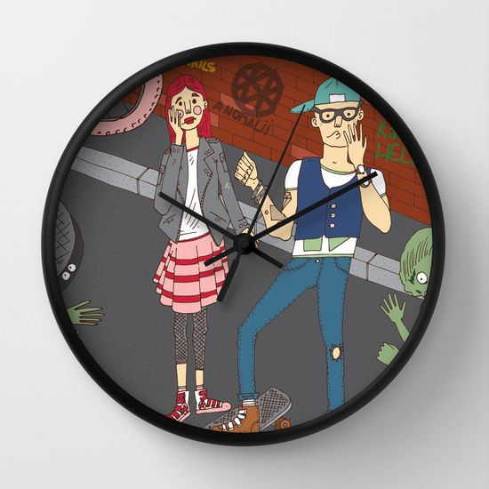 The zombie attack Wall Clock