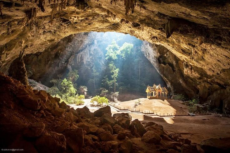 Amazing cave in the Thailand , Khao Sam Roi Yot National Park.
