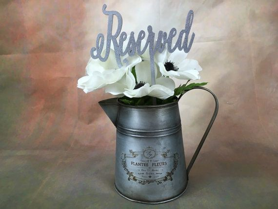 Reserved Vase, Reserved Sign, Reserved Table Sign, Reserved Sign for Wedding, Wedding Reserved Sign, Reserved Wedding Sign