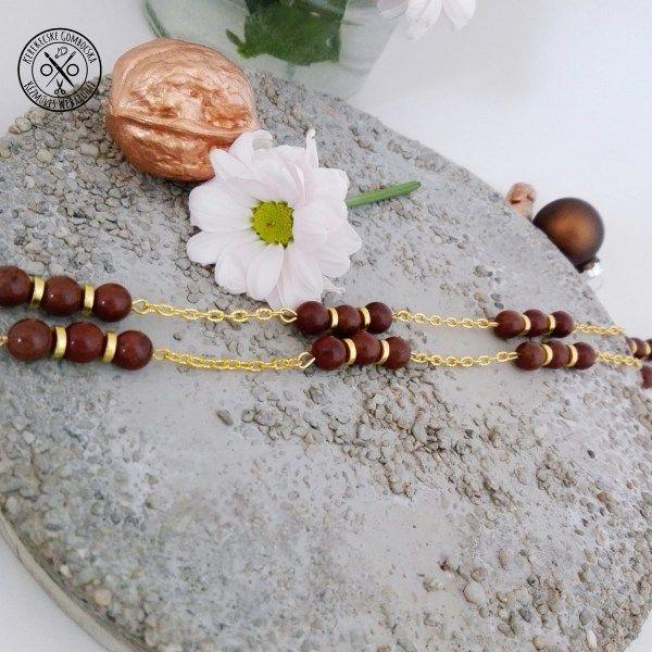 Mahagóni obszidián nyaklánc - megvásárolható a webáruházban #ásványékszer