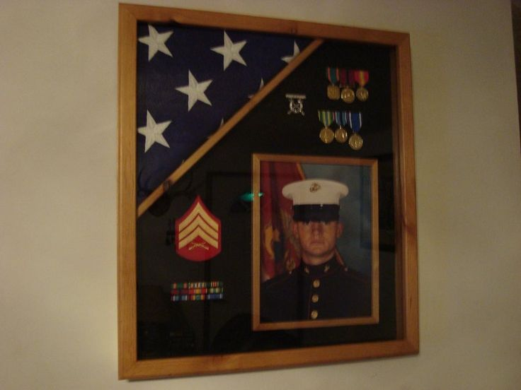 Military Shadow Box: shadow box diy