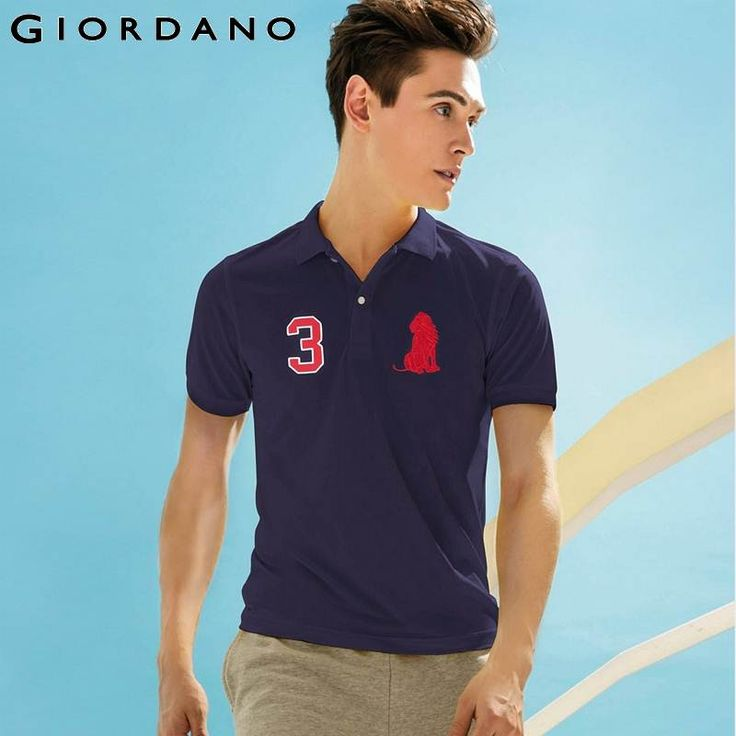 Giordano Men Brand 2015 New Breathable Button Polo Male Embroidered Graphic Polo Shirt Masculino Casual Camisa de Marca Slim