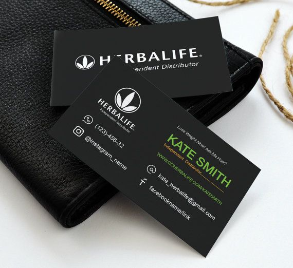 Herbalife Business Cards Free Fast Personalization by BusinessUp