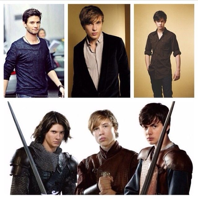 High King Peter (William Moseley), High King Edmund (Skandar Keynes), and King Caspian (Ben Barnes), of Narnia
