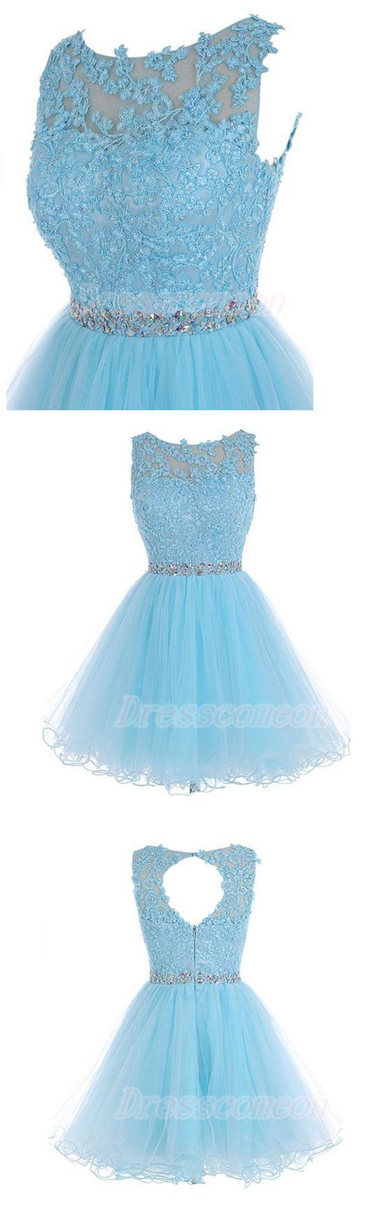 Lace Homecoming Dress,Open Back Homecoming Dress,Cute Dress,Short Homecoming Dress,Light Blue Homecoming Dress,Simple Cheap Homecoming Dress,Pretty Homecoming Dress For Teens,Party Dress,Cocktail Dresses