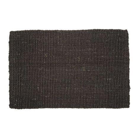 Jute door mat black - 60x90 cm - Dixie