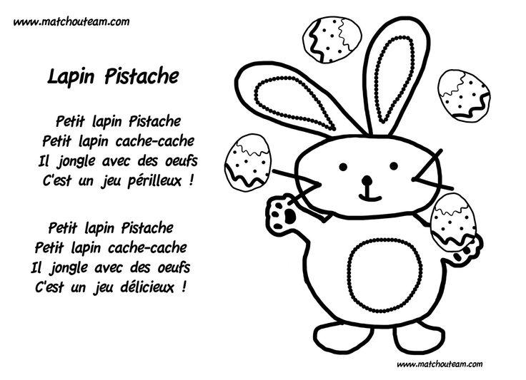 Petit lapin pistache comptine pour p ques - Mon petit lapin s est cache dans le jardin paroles ...