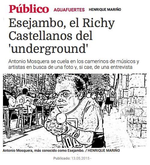 """Esejambo en """"Público"""" por Henrique Mariño."""