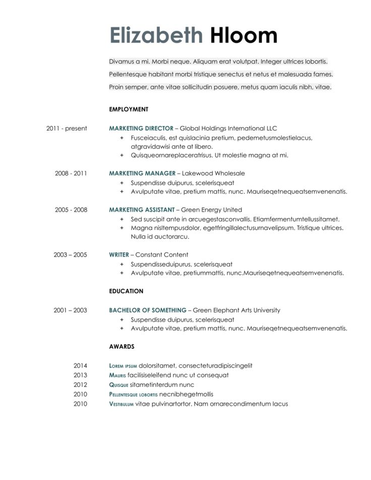 20+ Google Docs Resume Templates [Download Now] with