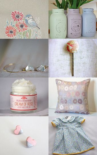 Pastel Love by Needle And Line on Etsy--Pinned with TreasuryPin.com