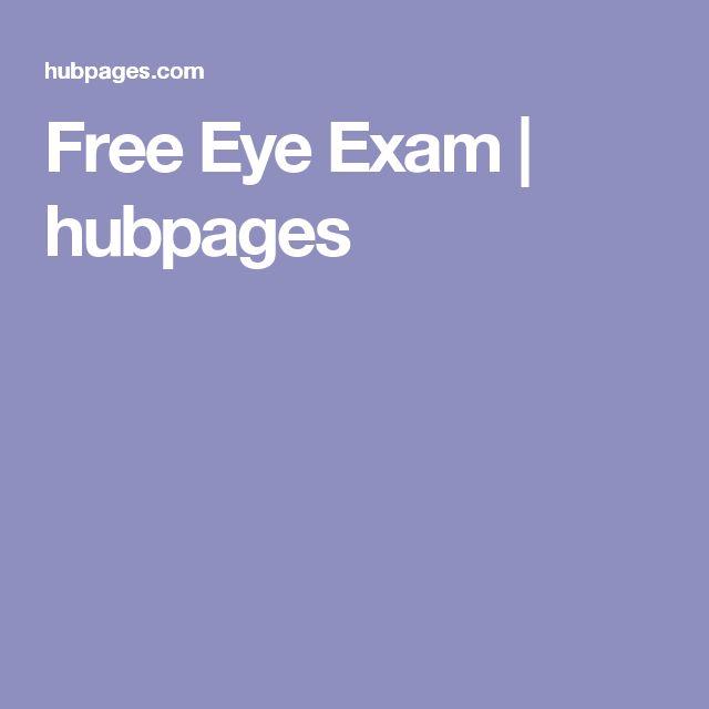 Free Eye Exam | hubpages