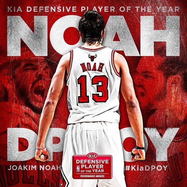 Joakim Noah named 2013-14 Kia NBA Defensive Player of the Year