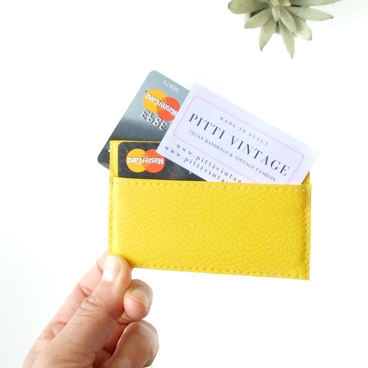 Vegan leather credit card holder unisex, handmade in Italy.   https://www.etsy.com/listing/499837381/vegan-leather-credit-card-holder-pink?ref=shop_home_active_2