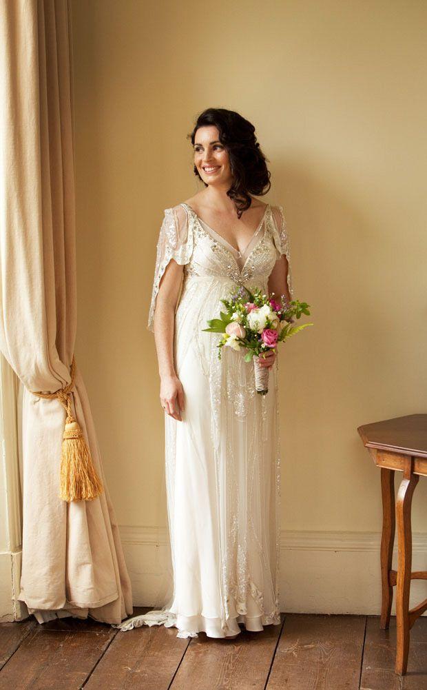 beautiful jewel Jenny Packham wedding dress - Read more on One Fab Day: http://onefabday.com/cormac-byrne-kilshane-house-wedding/
