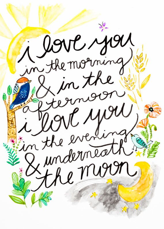Skidamarink I love you in the morning and in the by maehandmade