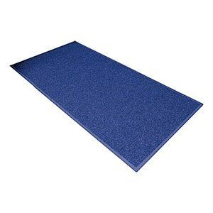 Entrance Mat, Poly, Fiber, Navy, 3 x 4 ft by Notrax. $93.56. Entrance Mat, Heavy Traffic, Polypropylene and Fiber (Surface), Vinyl (Backing), Navy, Length 4 ft., Width 3 ft., Thickness 5/16 In., Vinyl Backing, Design Mini-Checked Pattern, Construction Dual-Fiber, Loop-Pile Surface Which Keeps Mud, Dirt, Sand, Gravel And Moisture Contained, Polypropylene Carpet Fibers Absorb Moisture, While Grass Fibers Scrape Off Dirt And Debris, Vinyl Backing Is Color Coordin...