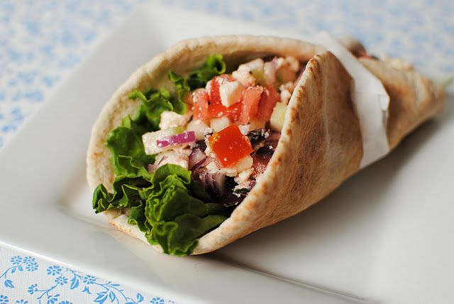 greek pita wrap, perfect for lunch
