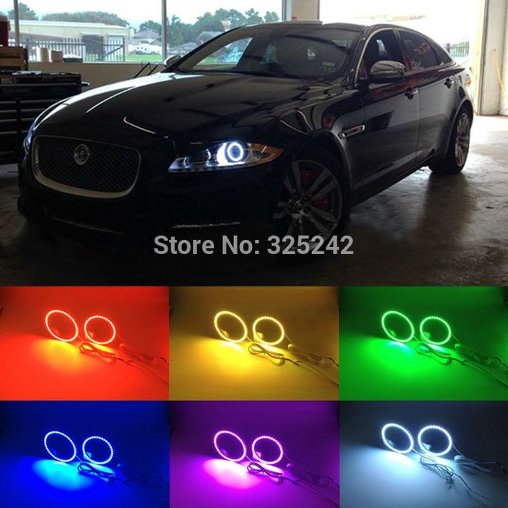 35.00$  Know more - http://aiyb7.worlditems.win/all/product.php?id=32779597071 - For Jaguar XJ 2011 2012 2013 2014 2015 Excellent Angel Eyes Multi-Color Ultra bright 7 Colors RGB LED Angel Eyes kit