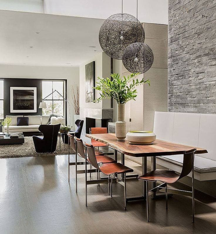 Modern Dining and Living Room - Atrium House by Ruhl Walker Architects