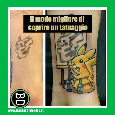 #tatuaggio #pikachu #bastardidentro #tagga i tuoi amici e #condividi le risate! www.bastardidentro.it