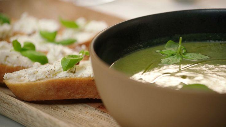 Jeroen Meus - dagelijkse kost Courgette, basilicum , spinazie soep