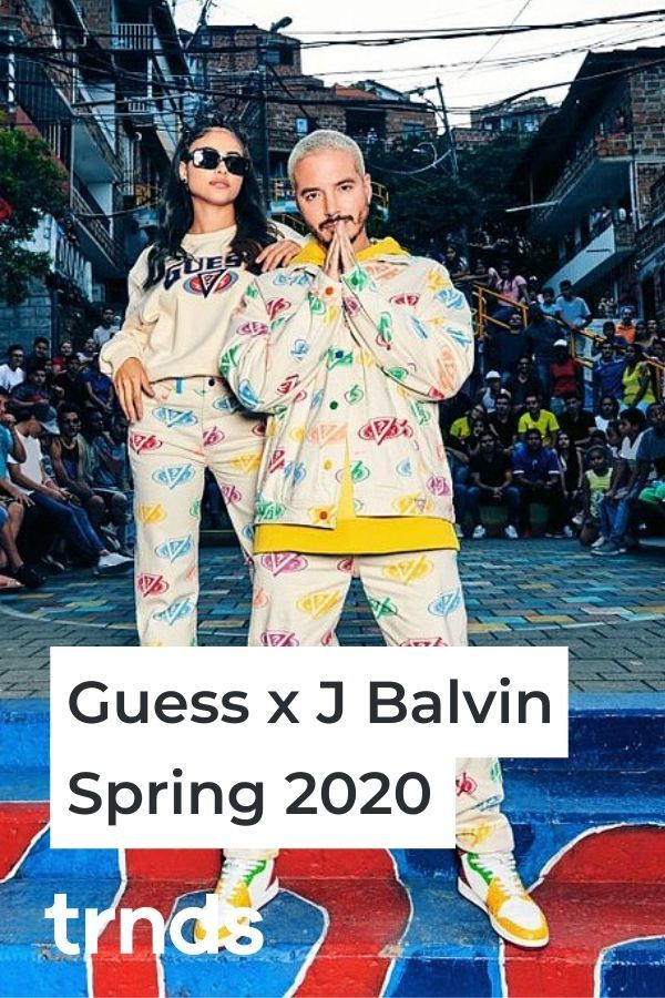 J Balvin S New Guess Collection Is Inspired By His Upcoming Colores Album Trnds In 2020 High Waisted Shorts Denim Guess Cropped Denim Jacket