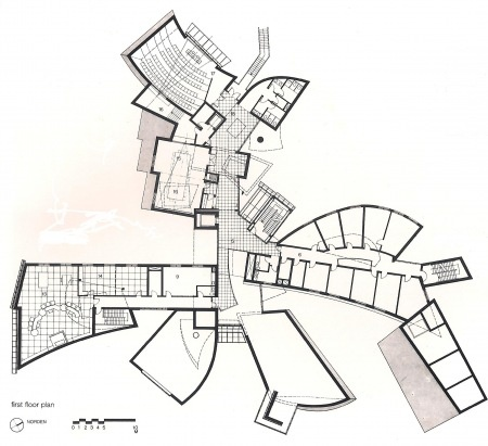 Gehry's EMR Communication and Technology Center First floor plan