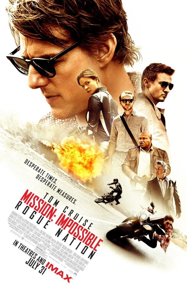 K and H: Sept 2015 A #movie to watch if you have not seen this yet! #MissionImpossible #RogueNation