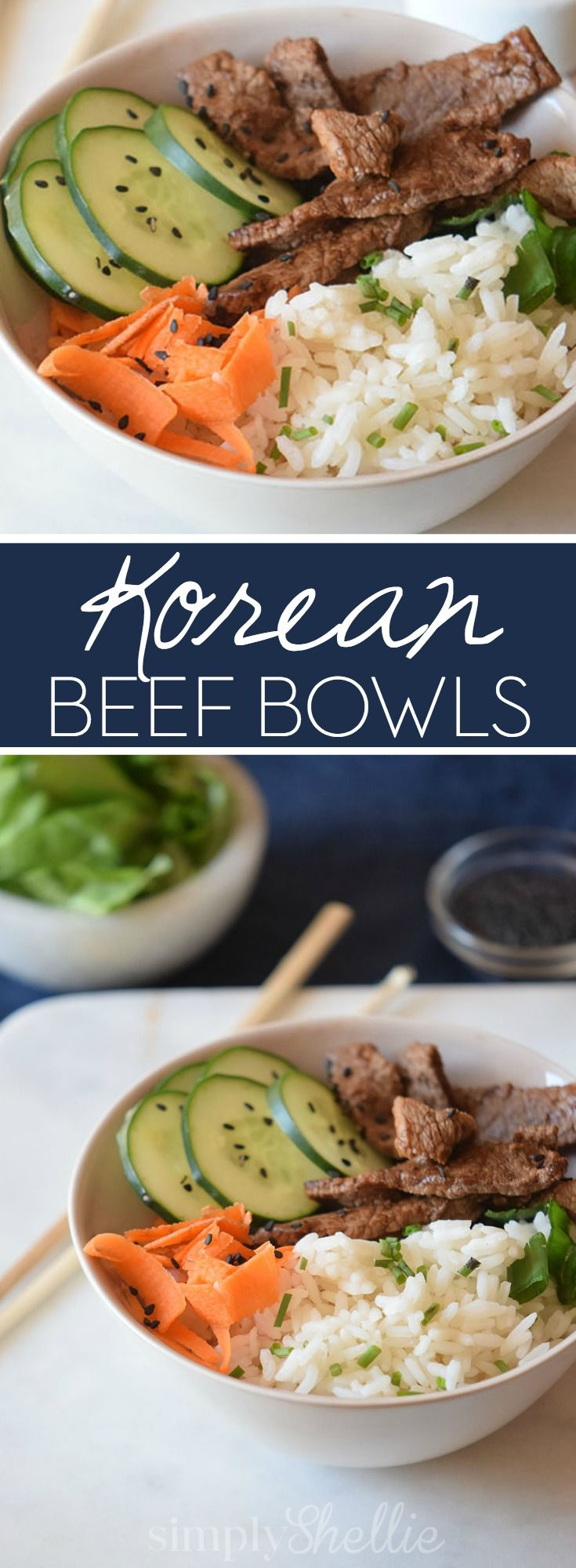 These Korean Beef Bowls are a simple weeknight dinner idea. Stove to table in…
