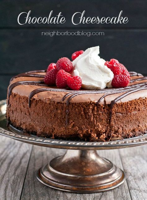 Easy Chocolate Cheesecake Recipe from Neighborfoodblog.com