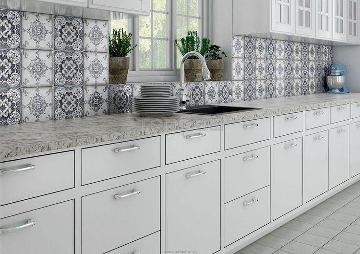 Интерьер фабрики Keramika Absolut коллекция плитки для кухни PFC ID-2802