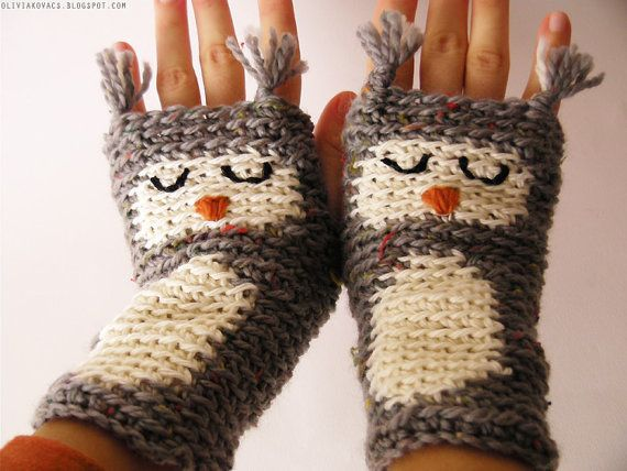 Free Crochet Pattern For Owl Hand Warmers : Owl, Gloves and Hand warmers on Pinterest