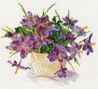 Схема вышивки крестом  «Цветущий сад. Крокусы»
