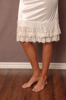 Lace Slip Extenders: This would be super easy to make. Just make them in different colors to go with skirt.
