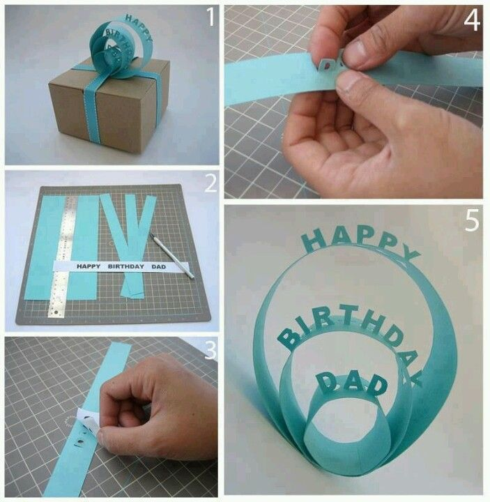 Diy birthday card for ur dad or anyone very creative for Creative gifts for dad from daughter