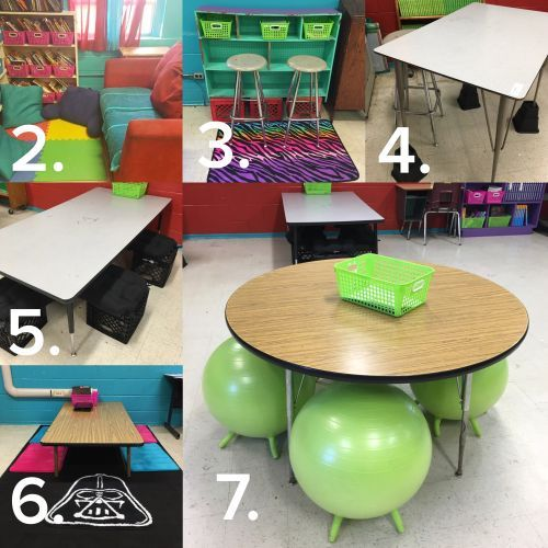 Are you interested in trying flexible seating in your classroom? Learn ideas for creating an alternative seating environment for the 21st-century by click on the picture. There are 7 really cool options.