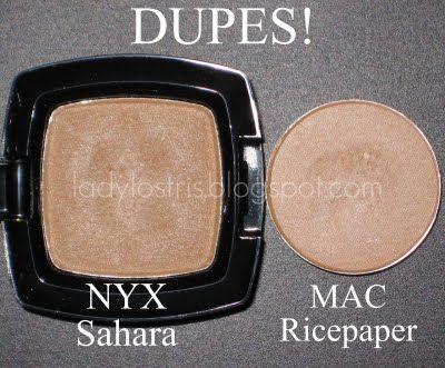 NYX Sahara dupe for MAC Ricepaper