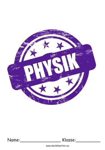 Deckblatt Physik Schule