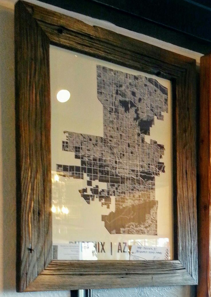 Reclaimed wood Frames by Frythawfur Phoenix Arizona, print of Phoenix by Mr  City Printing - 66 Best Images About Frames On Pinterest Reclaimed Wood Wall