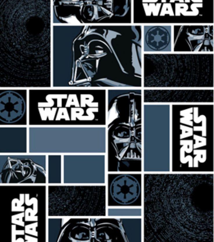 Star Wars Darth Vader In Blocks Fleece Fabric
