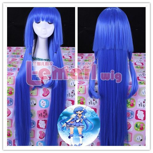 100cm long blue Smile Pretty Cure Beauty Blizzard cosplay [RW145] - $20.42 : Fasion jewelry promotion store,Shop cheap fashion jewelry and cosplay wigs at www.favorwe.com