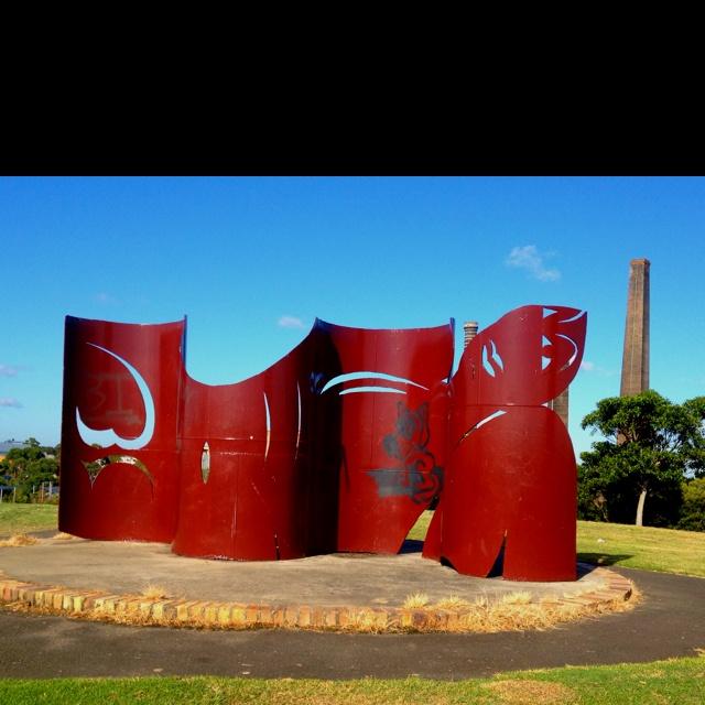 Sydney Park art piece