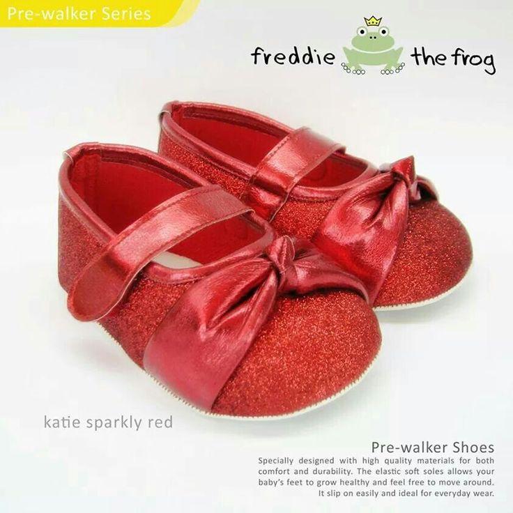 #Sepatu freddie the frog (Katie red) ~ 90ribu. Ukuran Sol : No. 3 = 11 cm (untuk umur sekitar 0-6 bulan-) No. 4 = 11.5 cm (Sekitar 6-9bulan-) No. 5 = 12 cm (Sekitar 9bln-1 tahun-)